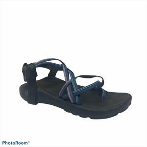 Chaco Blue pink ZX2 strappy hiking trail  sandals